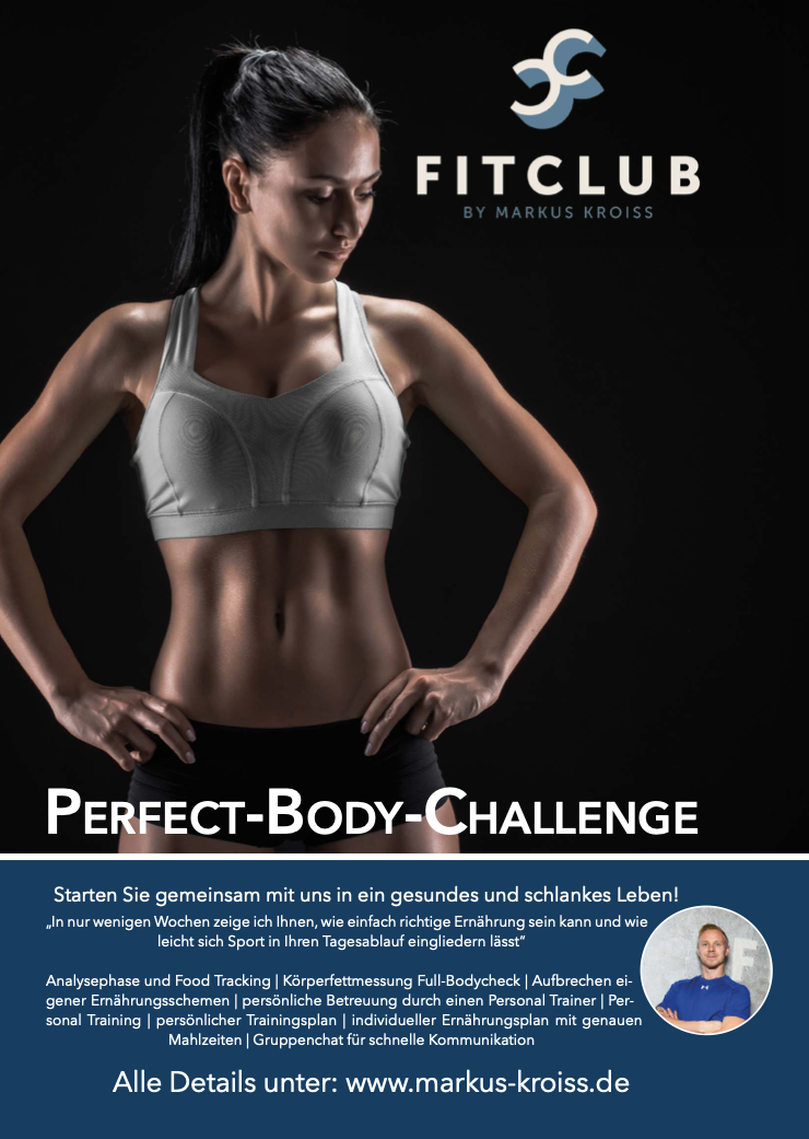 Perfect Body Challenge im Fitclub Freilassing